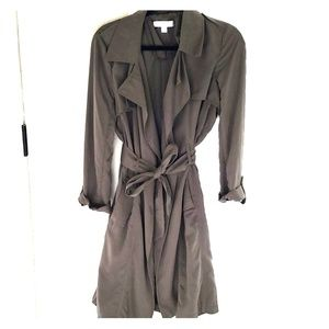 BRAND NEW New York and Company green trench coat